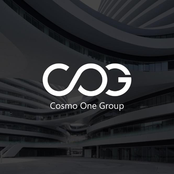cosmo one group logo design