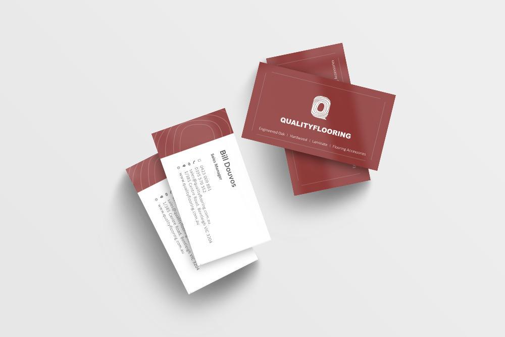 Timber Floor Business Card Design
