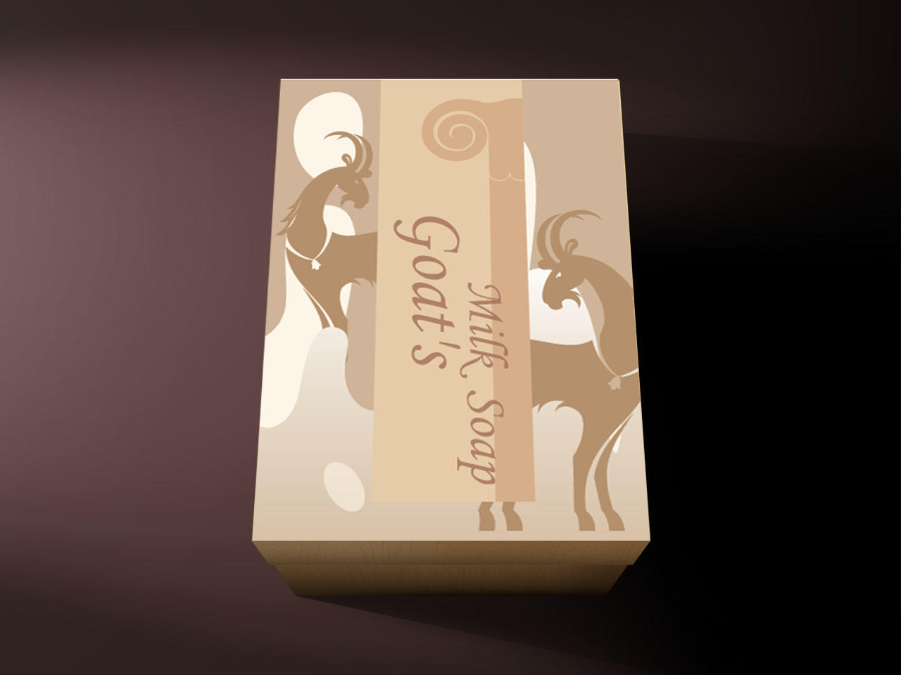Goat soap package design