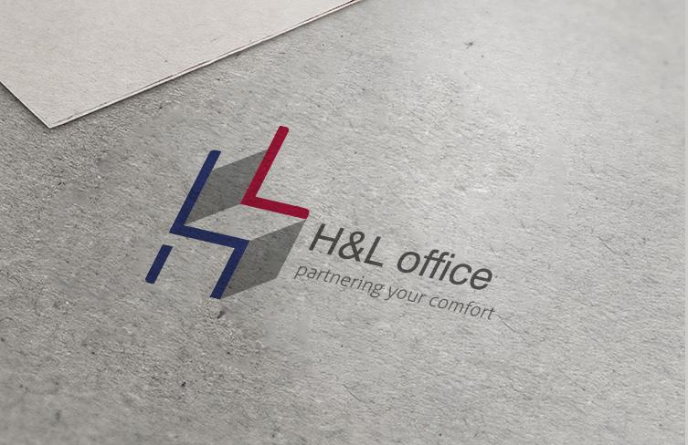 H&L logo design 名片设计