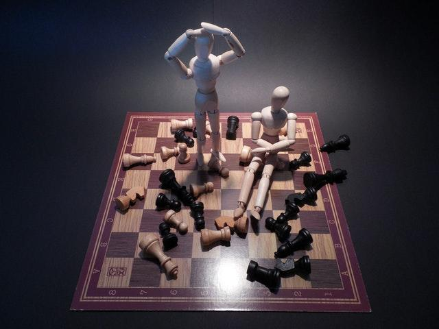 Chessboard depicting confusion with website redesign