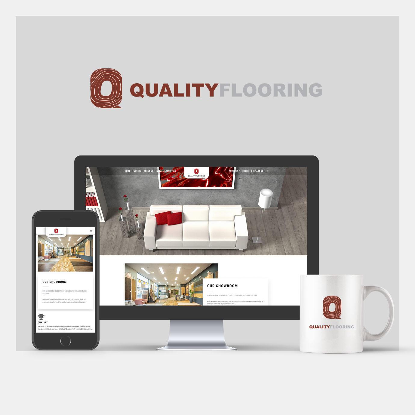 Quality Flooring Branding And Web Design Paperdino