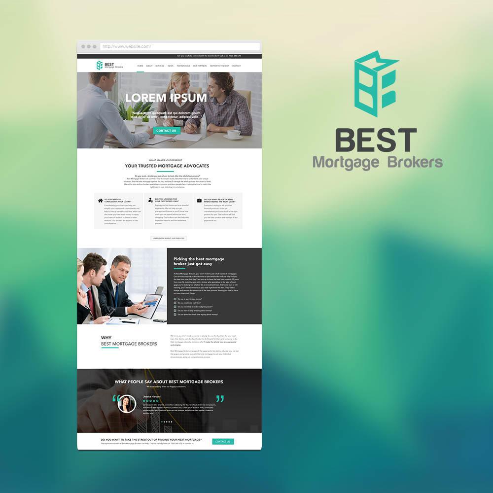 BMB信贷事务所 logo和网站设计