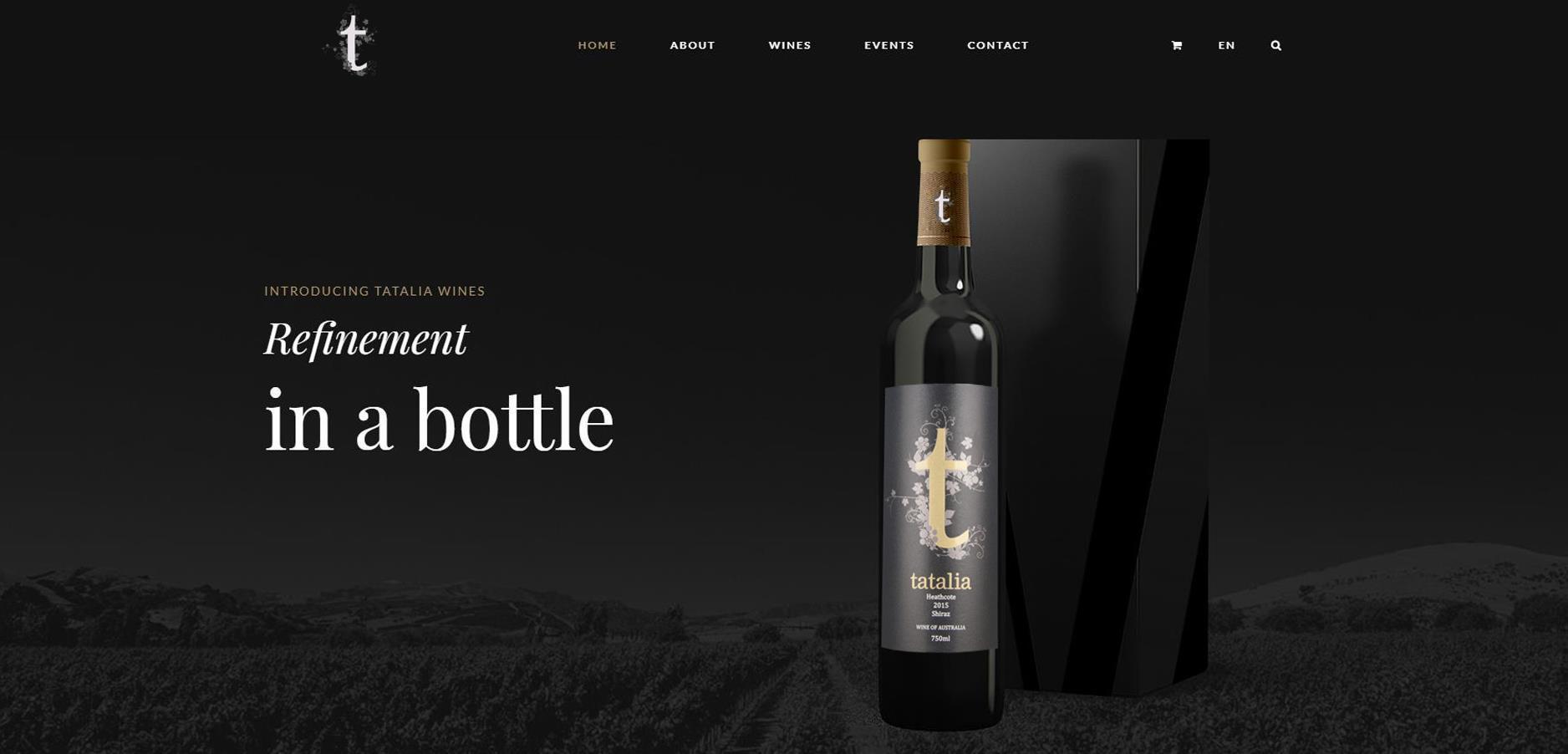 酒庄品牌网站的设计与开发