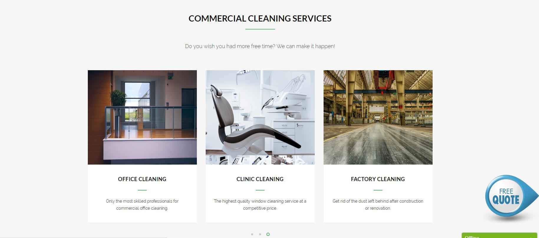 清洁/家政公司网站设计