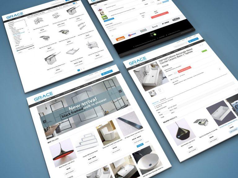 E-commerce website mock-up