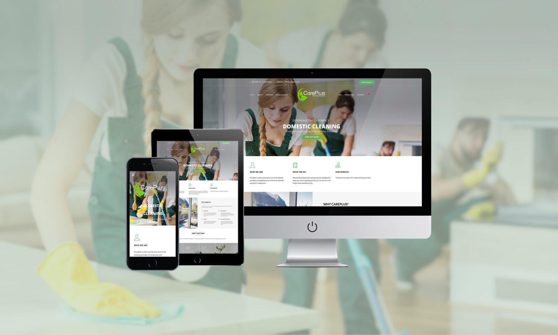 Careplus Cleaning Website Design